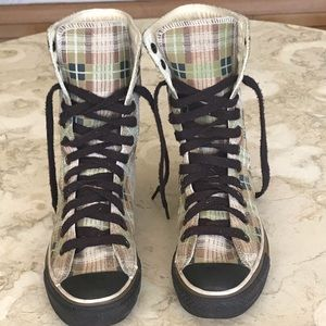 Converse Chuck Taylor Plaid Leather High Tops